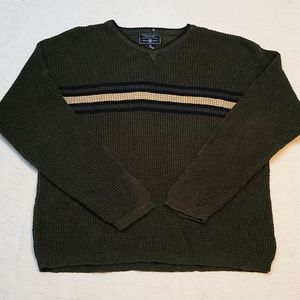 American Eagle cotton green knitted sweater XL